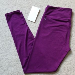 FABLETICS Salar Leggings Heathered Purple L 10-12